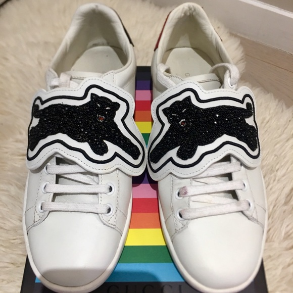 Gucci Shoes   Gucci Ace Panther Lowtop